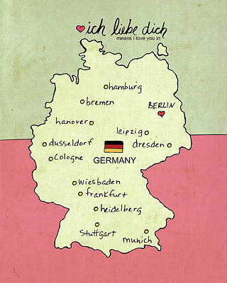 Germany Poster by Lisa Barbero