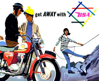 Get Away With Bsa 1964 Poster by Mark Rogan