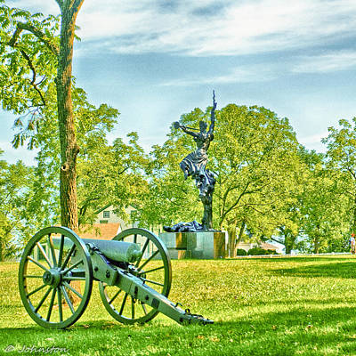 Gettysburg Battleground Poster by Bob and Nadine Johnston