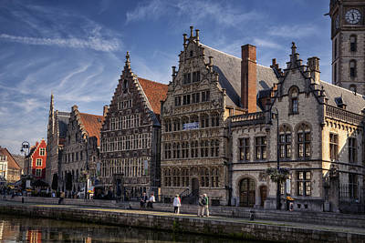 Ghent Guild Houses Poster by Joan Carroll