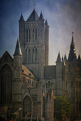 Ghent Skyline Poster by Joan Carroll