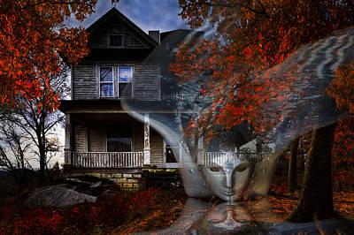 Ghost Poster by Debra and Dave Vanderlaan