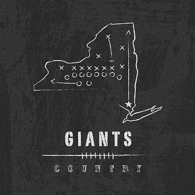 Giants Country Poster by Damon Gray