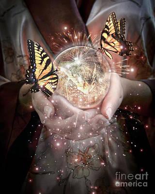 Fantasy- Gift Of Magic Poster by Feryal Faye Berber