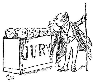 Gilbert & Sullivan Trial Poster by Granger