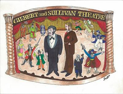 Gilbert And Sullivan Theater Poster by Marty Fuller