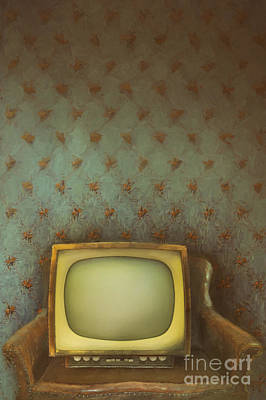 Gilded Ornate Frame On Old Wallpaper/digital Painting Poster by Sandra Cunningham