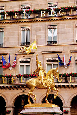 Gilded Statue Of Joan Of Arc Poster by Brian Jannsen