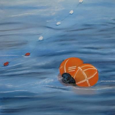Gill Net Floats Poster by Pamela Heward