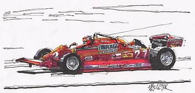 Gilles Villeneuve Ferrari Canadian Grand Prix Poster by Paul Guyer