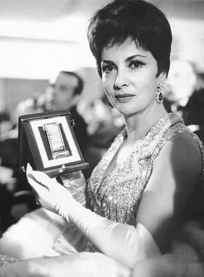 Gina Lollobrigida Wins Award Poster by Underwood Archives