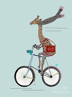 Giraffe School Days Poster by Bri B
