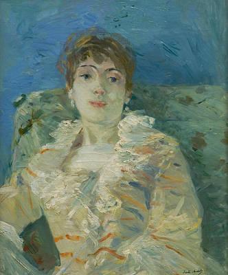 Girl On A Divan Poster by Berthe Morisot