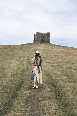 Girl Walks To A Chapel Poster by Joana Kruse