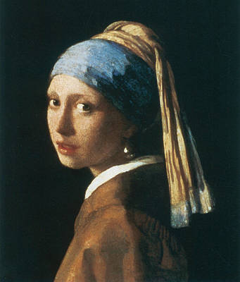 Girl With A Pearl Earring Poster by Jan Vemeer