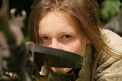 Girl With Machine-gun Poster by Aleksey Tugolukov
