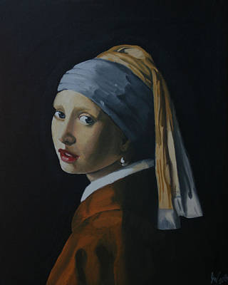 Girl With The Pearl Earring Recreation Poster by Jason Welter