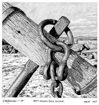 Gitche Gumee Inked #1 Poster by Rob Christensen