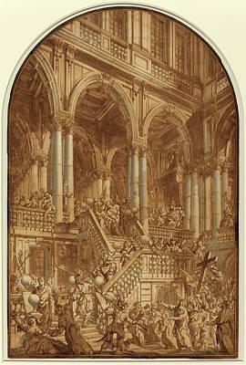 Giuseppe Galli Bibiena Italian, 1696 - 1757 Poster by Quint Lox