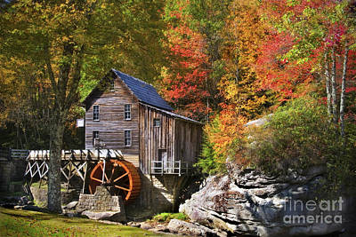 Glade Creek Mill Poster by T Lowry Wilson