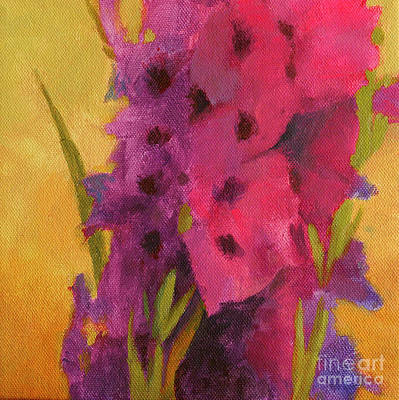 Gladiolas No. 2 Poster by Melody Cleary