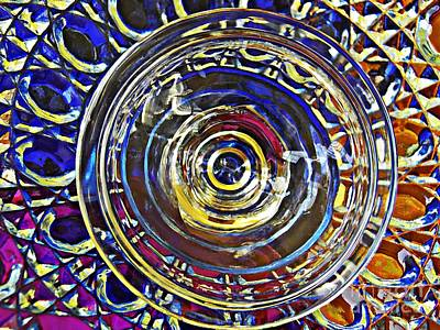 Glass Abstract 587 Poster by Sarah Loft