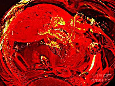Glass Abstract 624 Poster by Sarah Loft