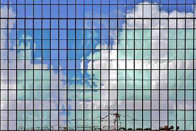 Glass Facade Houston Tx Poster by Christine Till