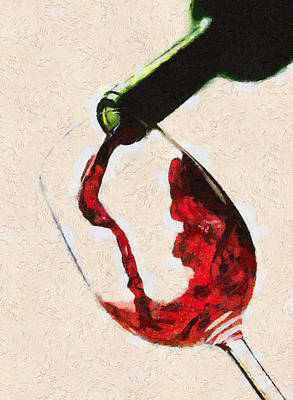 Glass Of Red Wine Poster by Georgi Dimitrov