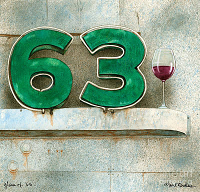 Glass Of Sixty Three... Poster by Will Bullas