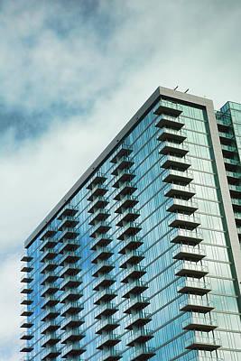 Glass Skyscraper Downtown Nashville Tennessee Poster by Jai Johnson