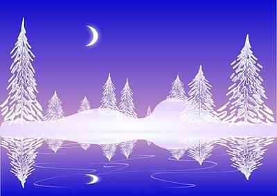 Glass Winter Poster by Anastasiya Malakhova