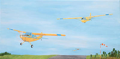 Glider On Tow Poster by John Read