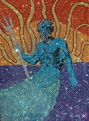 Glitter Art Poseidon Poster by Richard Ian Cohen