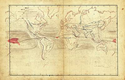 Global Circumnavigation Poster by Library Of Congress, Geography And Map Division