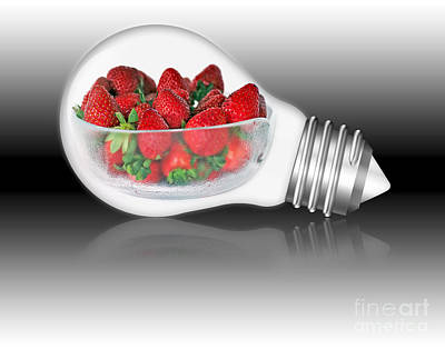 Global Strawberries Poster by Kaye Menner