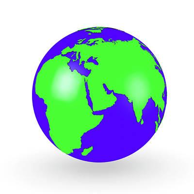 Globe Poster by Wladimir Bulgar