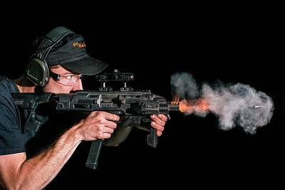Glock Carbine Shot Poster by Herra Kuulapaa � Precires