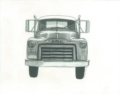 Gmc Truck Poster by Jennifer Slouha