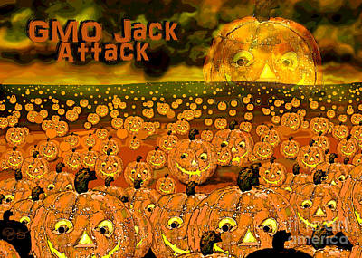 Gmo Jack Attack Poster by Carol Jacobs