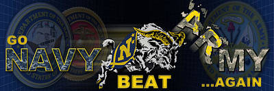 Go Navy Beat Army Poster by Mountain Dreams