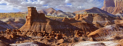 Goblin Valley State Park Panoramic Poster by Mike McGlothlen