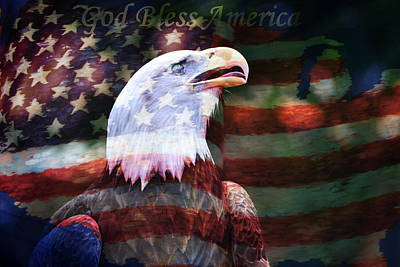 God Bless America Poster by Deena Stoddard