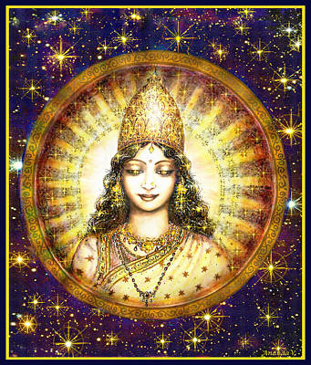 Goddess Of Stars Poster by Ananda Vdovic