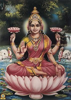 Goddess Srhi Sentamarai Laximi, Wife Poster by Everett