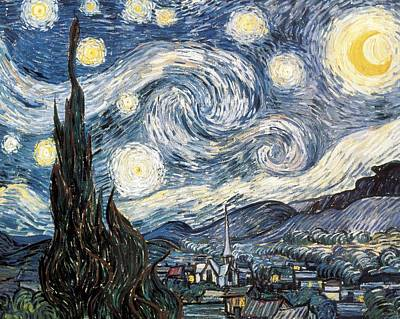 Gogh, Vincent Van 1853-1890. Starry Poster by Everett