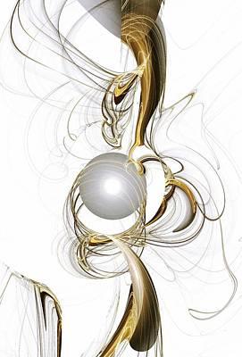 Gold And Pearl Poster by Anastasiya Malakhova