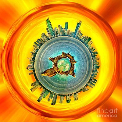 Gold Coast Skyline 2 Circagraph Poster by Az Jackson