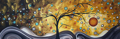 Golden Admiration By Madart Poster by Megan Duncanson
