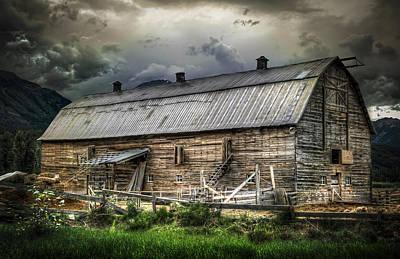 Golden Barn Poster by Wayne Sherriff